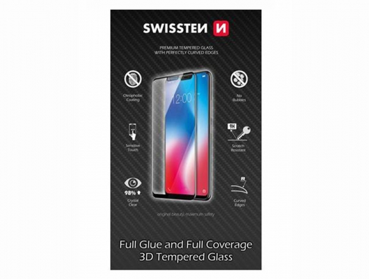 SKLO SWISSTEN ULTRA DURABLE 3D APPLE IPHONE 6 PLUS/6S PLUS ČERNÉ